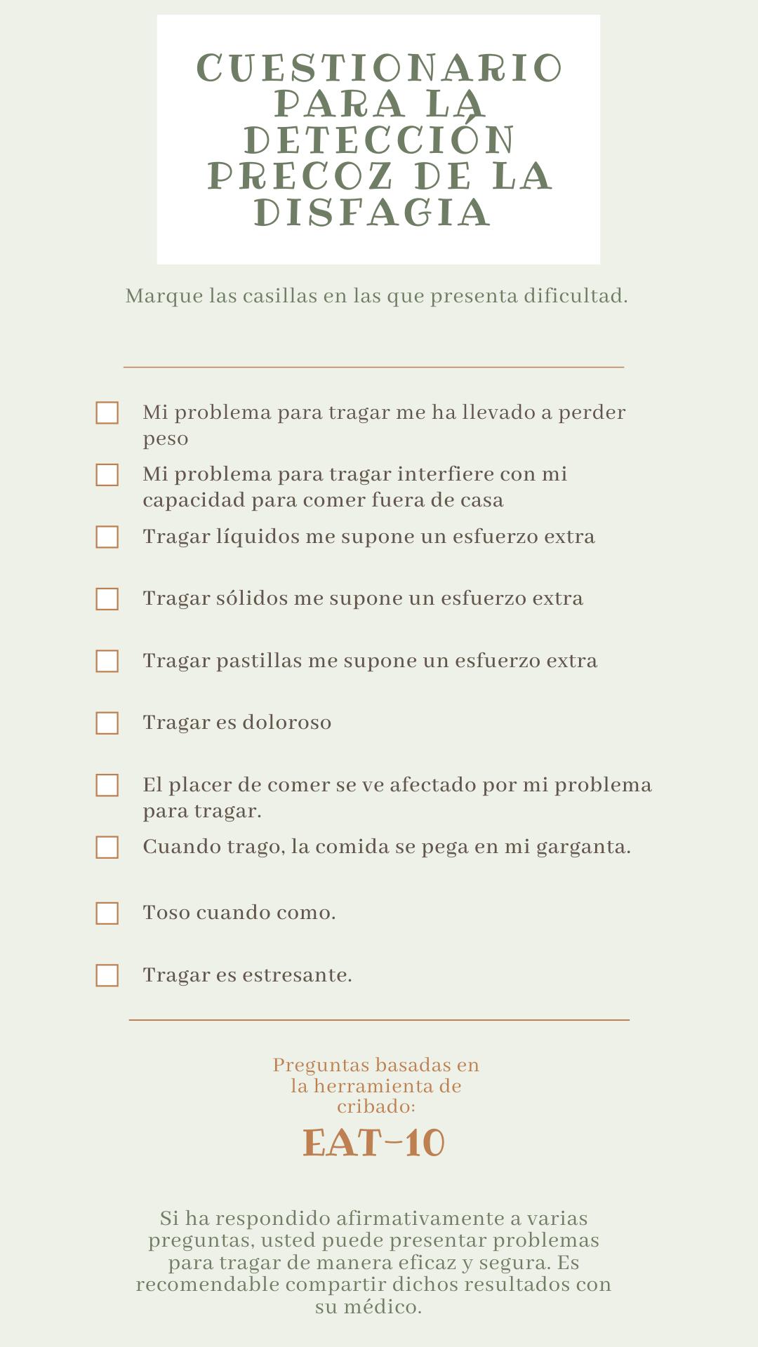 Cuestionario disfagia