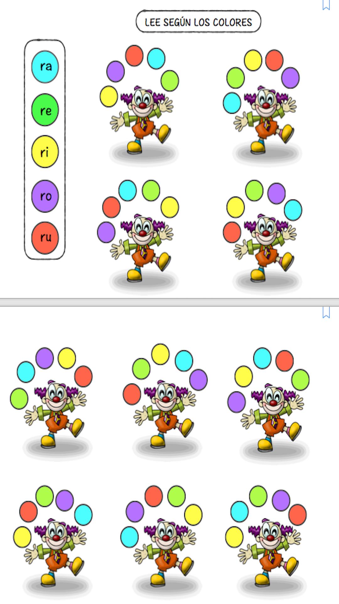Leer según los colores R