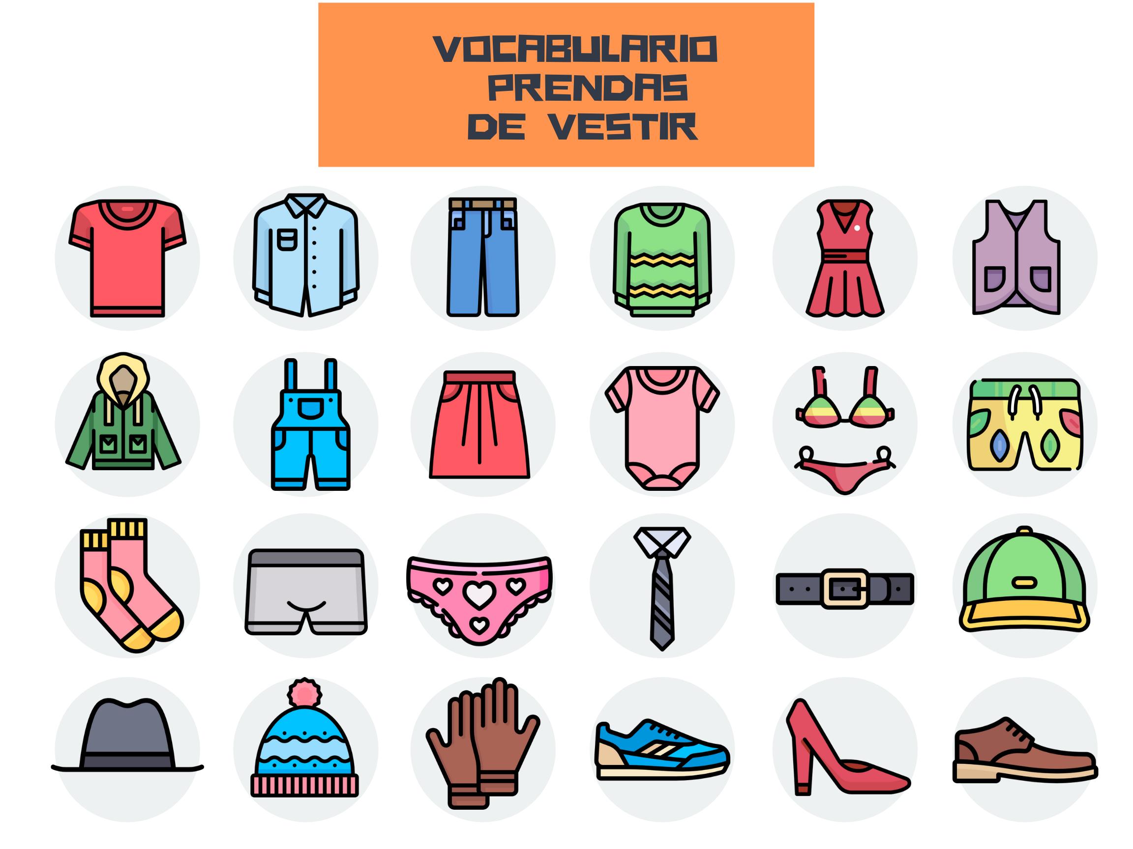 VOCABULARIO PRENDAS DE VESTIR